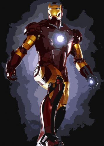 IRON MAN - POSE CUT OUT STYLE ART canvas print - self adhesive poster - photo print
